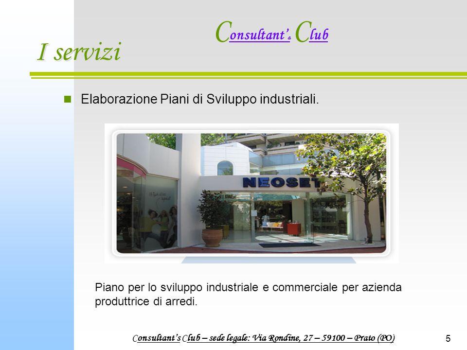5 I servizi Elaborazione Piani di Sviluppo industriali.