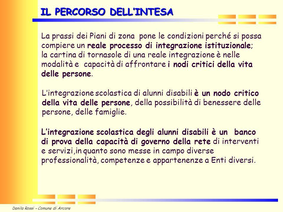 Danila Rossi – Comune di Arcore Governare il processo dellintegrazione scolastica è, nel nostro territorio, particolarmente complesso per alcune specificità.