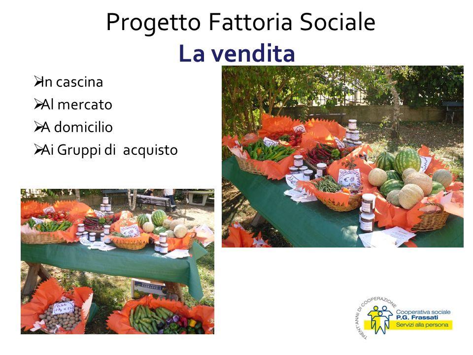 Progetto Fattoria Sociale La vendita 15/01/2010 In cascina Al mercato A domicilio Ai Gruppi di acquisto