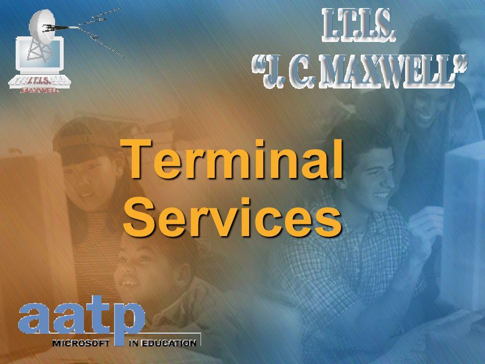 Come funziona un Terminal Server Il servizio Terminal Services funziona….