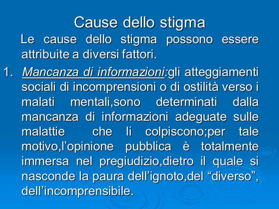 Cause dello stigma Le cause dello stigma possono essere attribuite a diversi fattori. Le cause dello stigma possono essere attribuite a diversi fattor