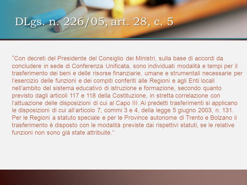 Con decreti del Presidente del Consiglio dei Ministri, sulla base di accordi da concludere in sede di Conferenza Unificata, sono individuati modalità