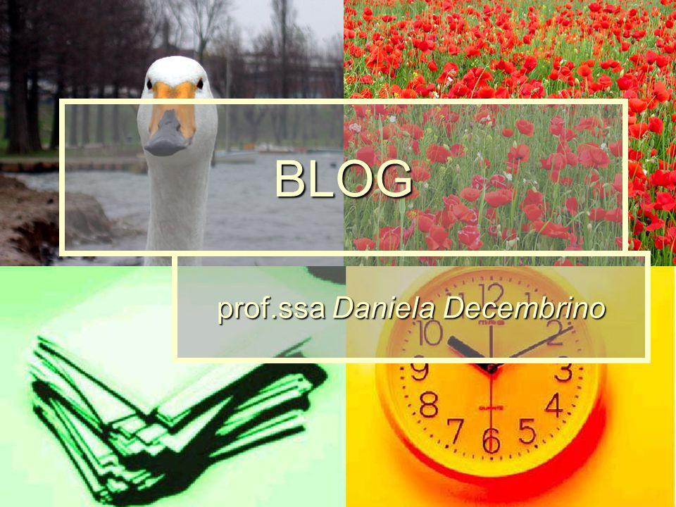 BLOG prof.ssa Daniela Decembrino