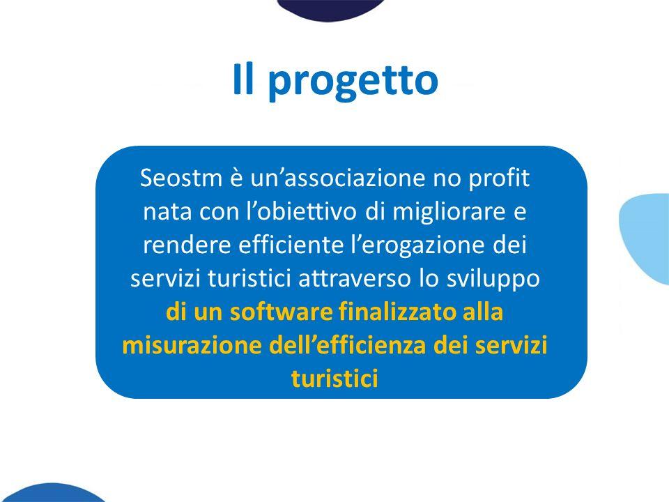 Il progetto Seostm è unassociazione no profit nata con lobiettivo di migliorare e rendere efficiente lerogazione dei servizi turistici attraverso lo sviluppo di un software finalizzato alla misurazione dellefficienza dei servizi turistici