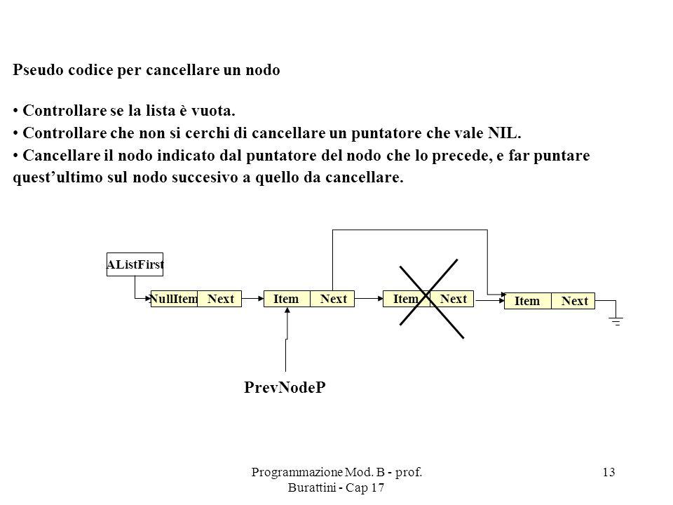 Programmazione Mod. B - prof.