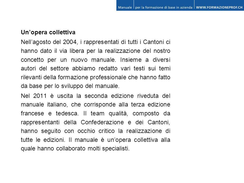 Unopera collettiva Nellagosto del 2004, i rappresentati di tutti i Cantoni ci hanno dato il via libera per la realizzazione del nostro concetto per un