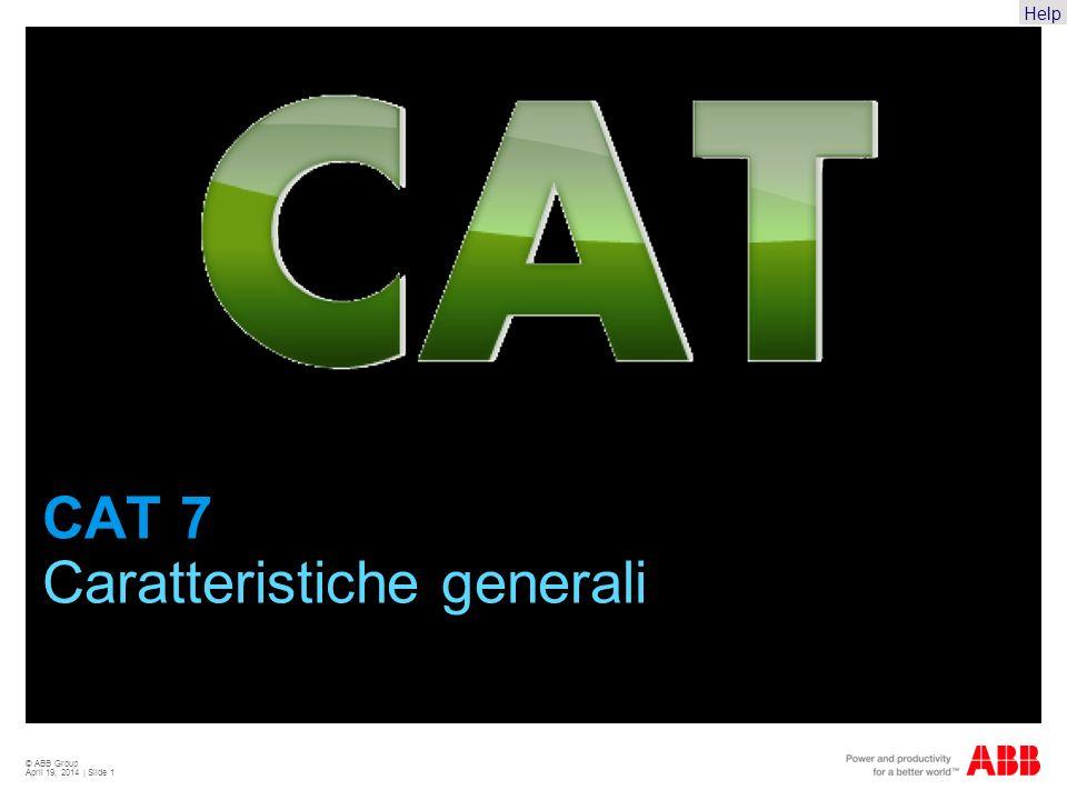 Help © ABB Group April 19, 2014 | Slide 1 CAT 7 Caratteristiche generali