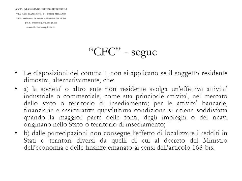 Le Black list italiane: D.Min. Fin. 4/05/1999 (pers.