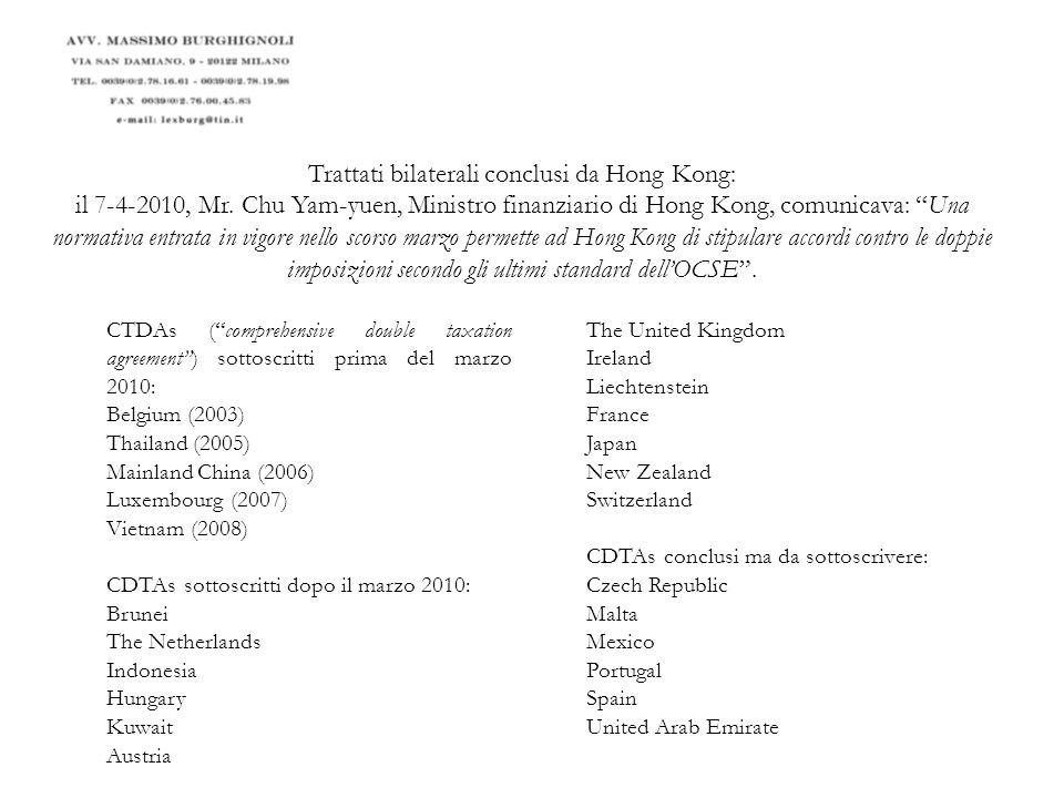 Quindi Hong Kong è......