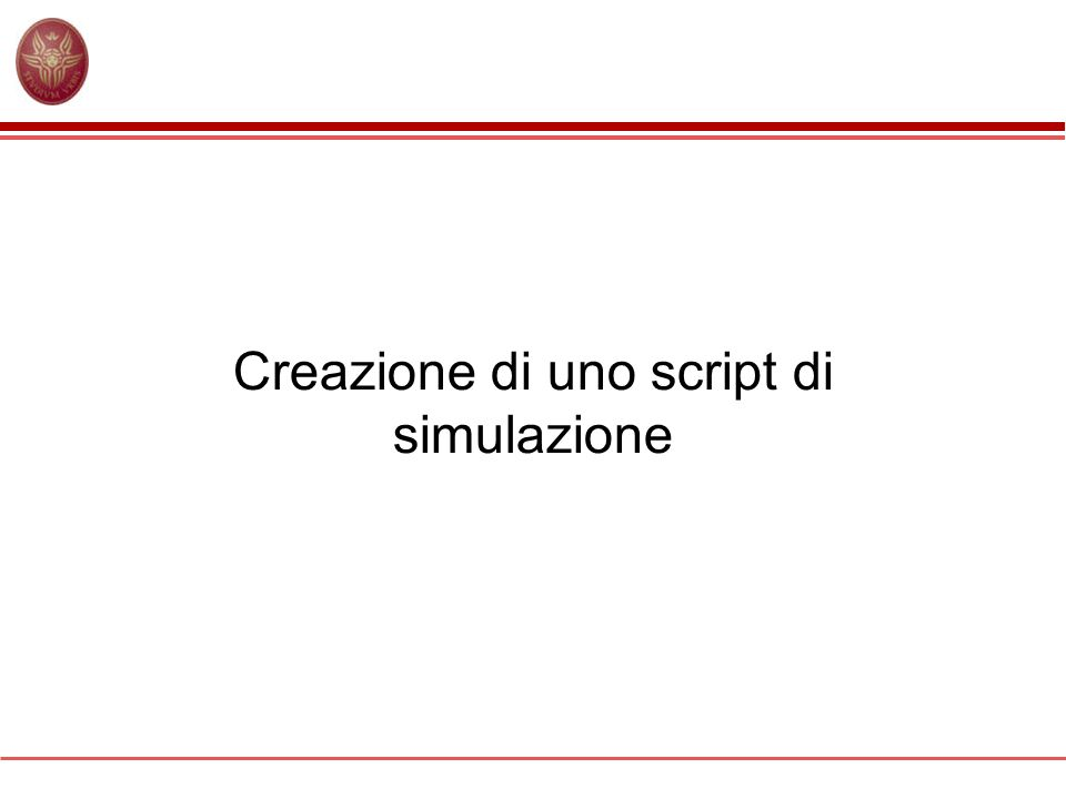 Creazione di uno script di simulazione