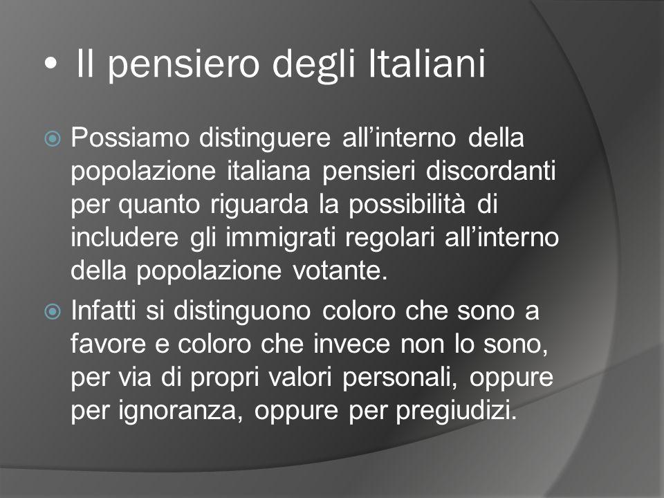 In Italia oggi Possiamo dire che lItalia è meta di un flusso dimmigrazione che porta nuovi cittadini ad integrarsi(o meno) alla popolazione residente.