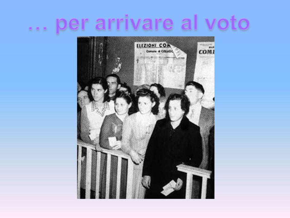 Nella legge del 1882 lesplicita esclusione delle donne dal diritto di voto non era prevista, in quanto la loro condizione di minorità politica era ovvia.