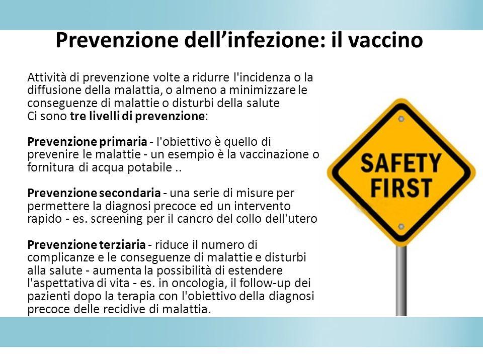 Attività di prevenzione volte a ridurre l'incidenza o la diffusione della malattia, o almeno a minimizzare le conseguenze di malattie o disturbi della