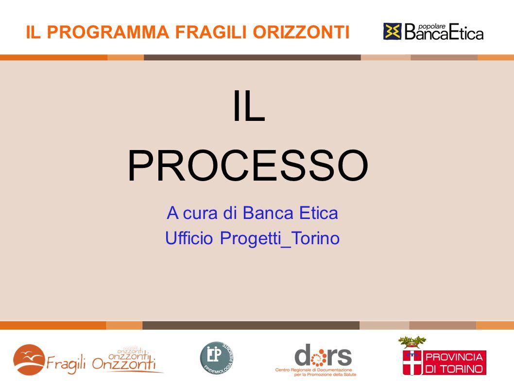 IL PROGRAMMA FRAGILI ORIZZONTI A cura di Banca Etica Ufficio Progetti_Torino IL PROCESSO