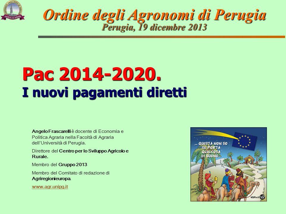 Angelo Frascarelli è docente di Economia e Politica Agraria nella Facoltà di Agraria dellUniversità di Perugia. Direttore del Centro per lo Sviluppo A