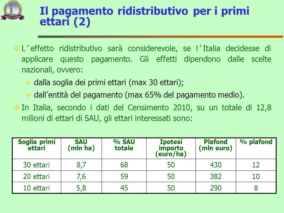 Leffetto ridistributivo sarà considerevole, se lItalia decidesse di applicare questo pagamento. Gli effetti dipendono dalle scelte nazionali, ovvero: