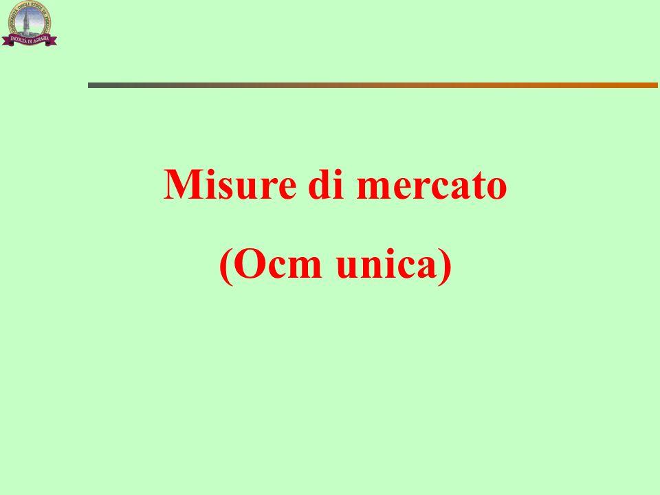Misure di mercato (Ocm unica)