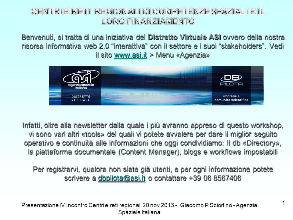 1 Benvenuti, si tratta di una iniziativa del Distretto Virtuale ASI ovvero della nostra risorsa informativa web 2.0 interattiva con il settore e i suo