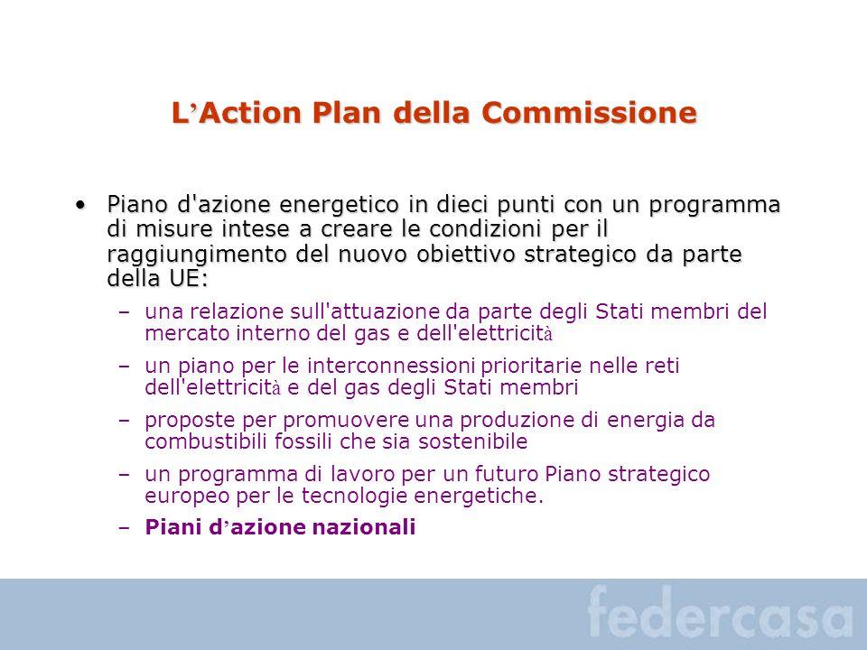 L Action Plan della Commissione Piano d'azione energetico in dieci punti con un programma di misure intese a creare le condizioni per il raggiungiment