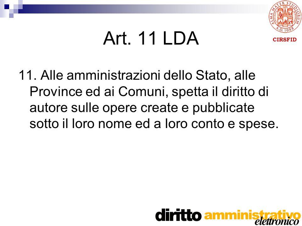 CIRSFID Art. 11 LDA 11.