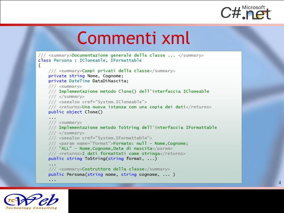 Commenti xml 4