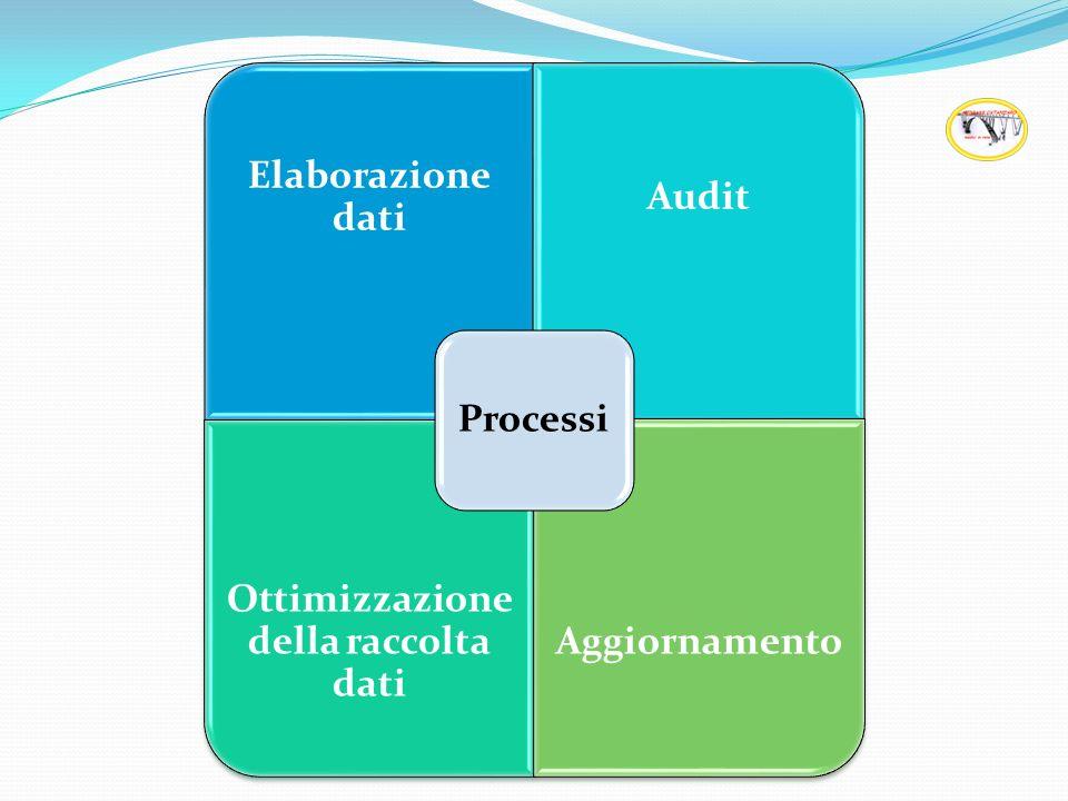 Elaborazione dati Audit Ottimizzazione della raccolta dati Aggiornamento Processi