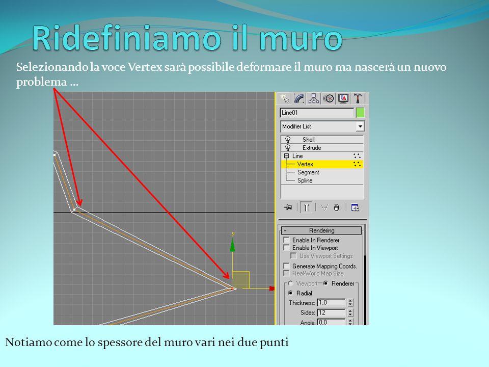 Ora andiamo su Edit Poly, clicchiamo sul + e scegliamo Polygon.