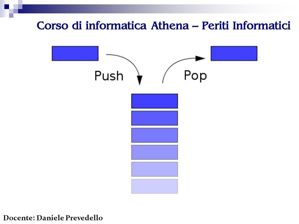 Corso di informatica Athena – Periti Informatici Docente: Daniele Prevedello