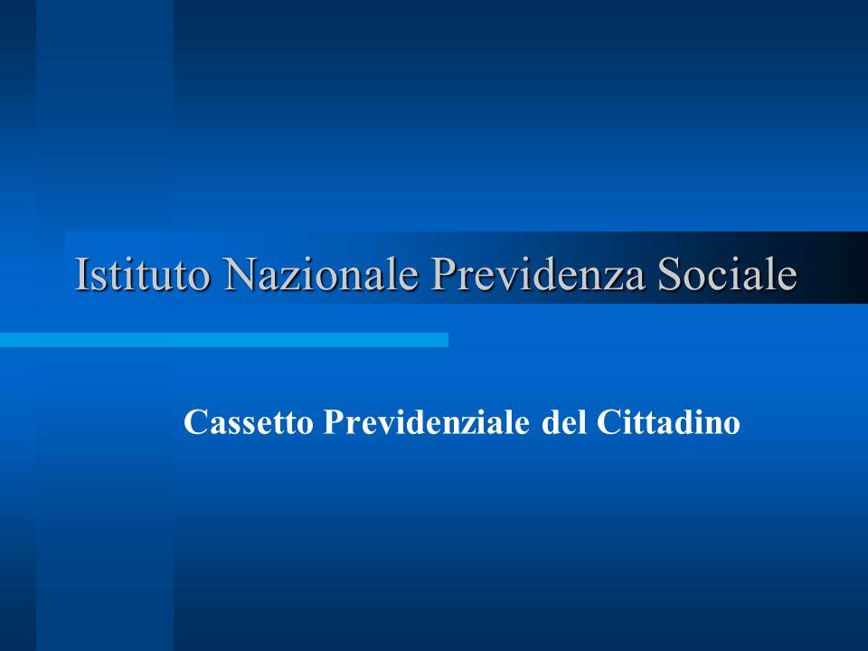 Istituto Nazionale Previdenza Sociale Cassetto Previdenziale del Cittadino
