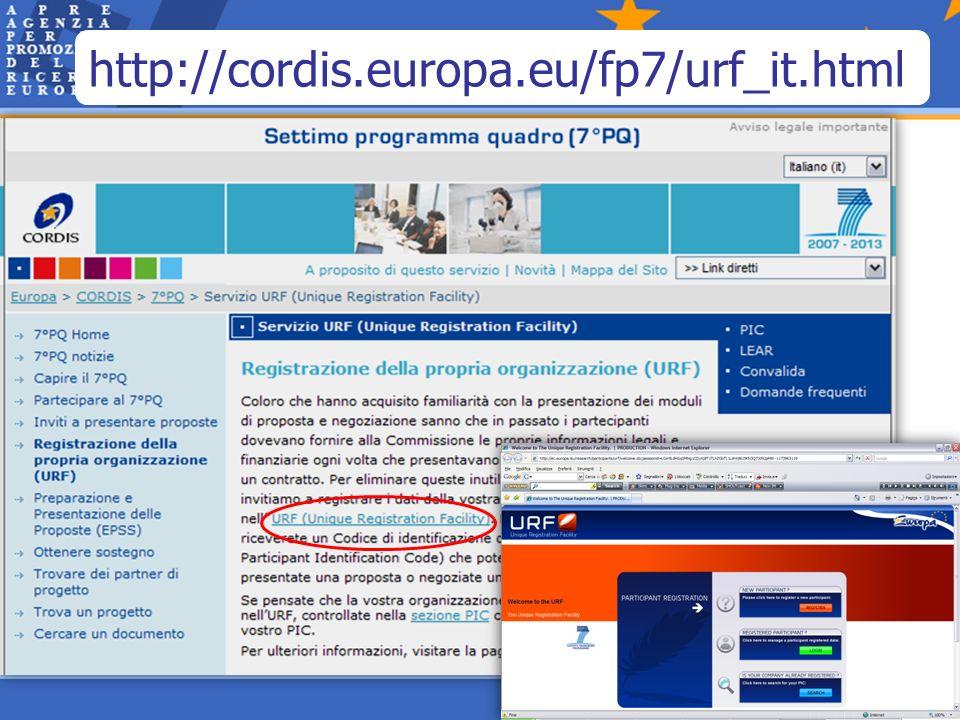 http://cordis.europa.eu/fp7/urf_it.html