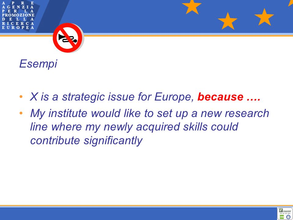 Esempi X is a strategic issue for Europe, because ….