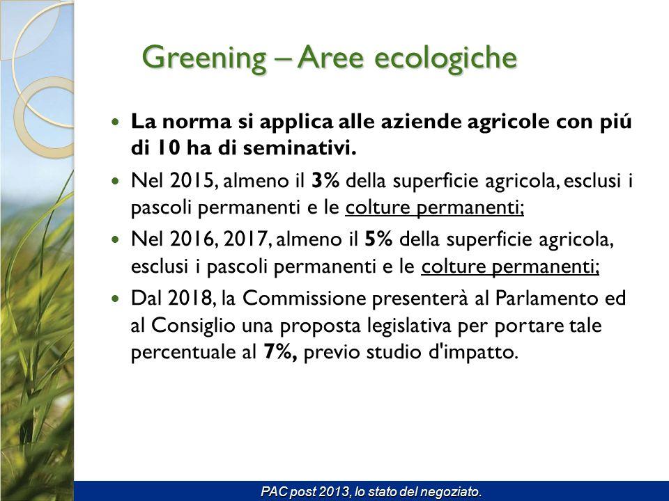 La norma si applica alle aziende agricole con piú di 10 ha di seminativi.