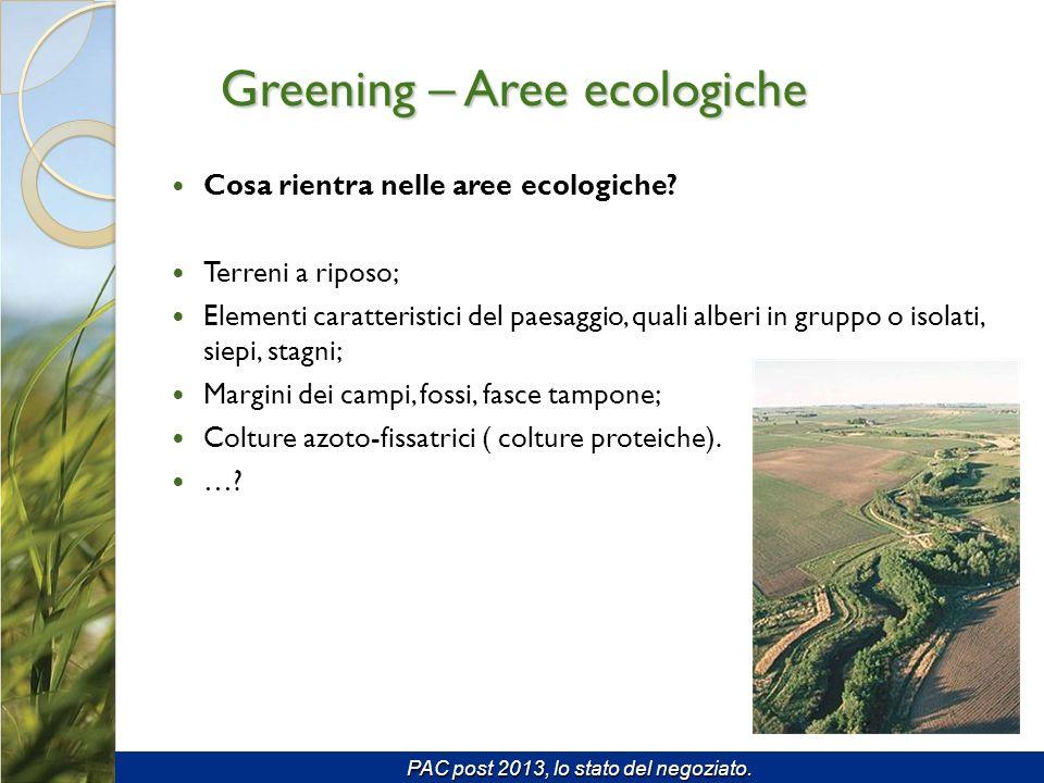 Cosa rientra nelle aree ecologiche.