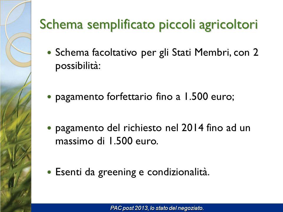 Schema facoltativo per gli Stati Membri, con 2 possibilità: pagamento forfettario fino a 1.500 euro; pagamento del richiesto nel 2014 fino ad un massimo di 1.500 euro.
