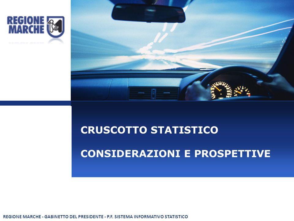 CRUSCOTTO STATISTICO CONSIDERAZIONI E PROSPETTIVE REGIONE MARCHE - GABINETTO DEL PRESIDENTE - P.F.