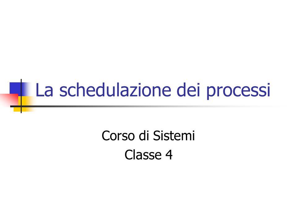 La schedulazione dei processi Corso di Sistemi Classe 4