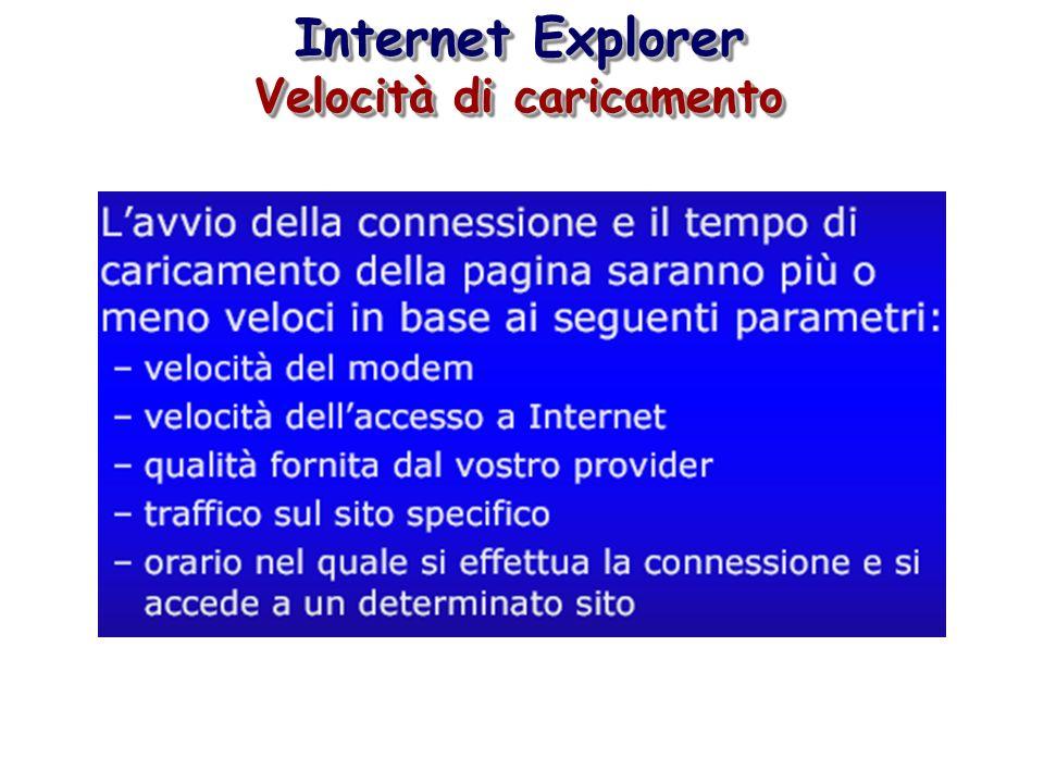 Internet Explorer Velocità di caricamento Internet Explorer Velocità di caricamento