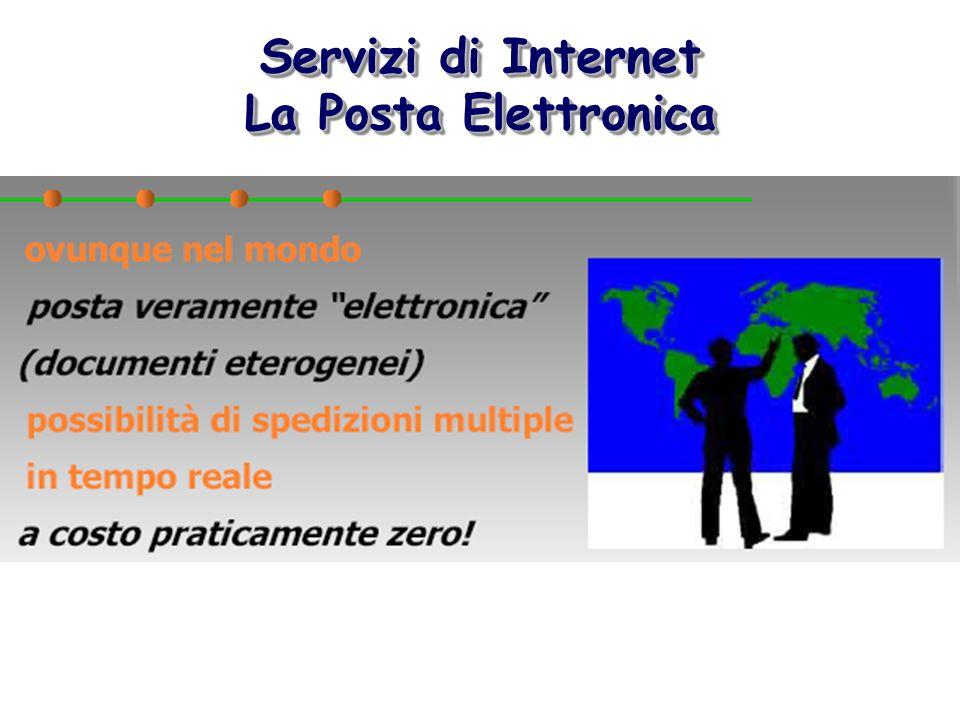 Servizi di Internet La Posta Elettronica Servizi di Internet La Posta Elettronica