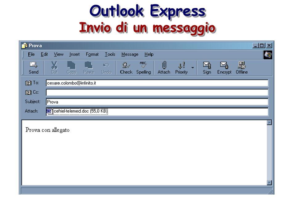 Outlook Express Invio di un messaggio Outlook Express Invio di un messaggio
