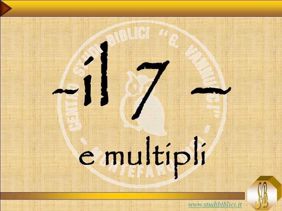 www.studibiblici.it -il 7 – e multipli
