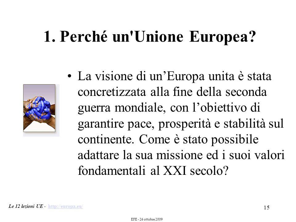 15 1. Perché un Unione Europea.