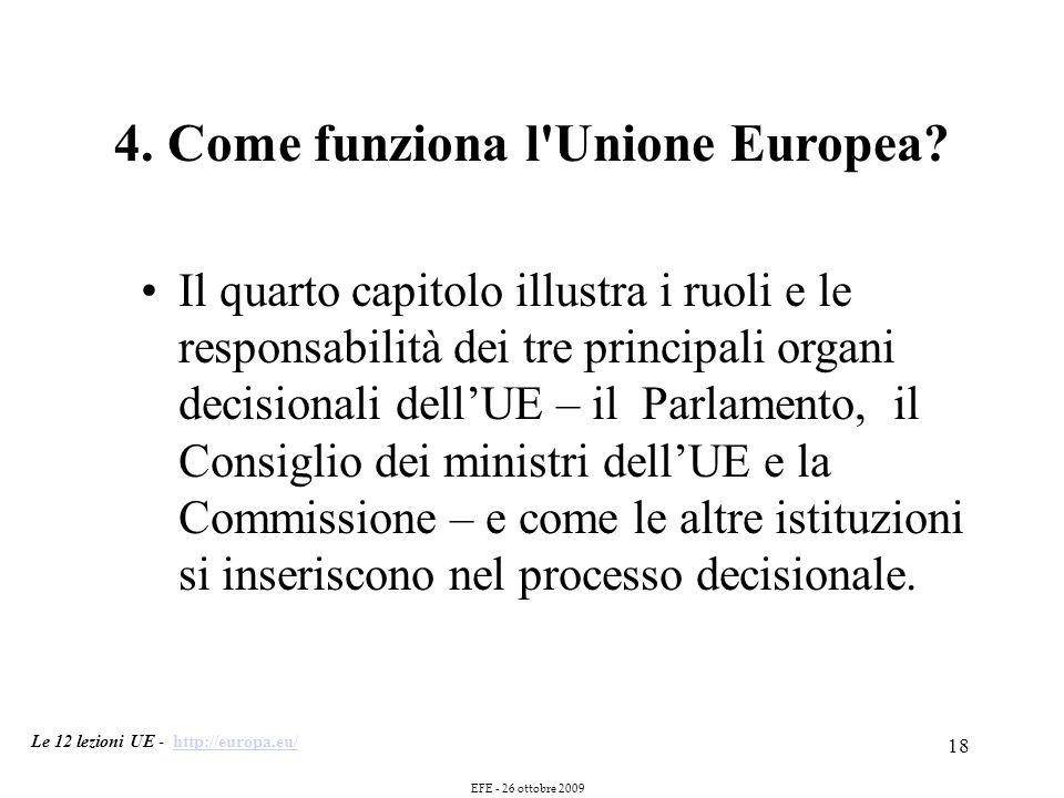 18 4. Come funziona l Unione Europea.