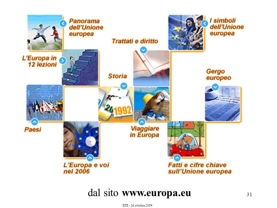 31 dal sito www.europa.eu EFE - 26 ottobre 2009