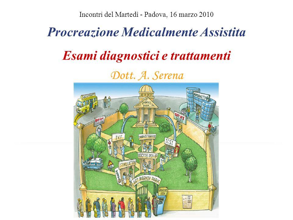 Incontri del Martedì - Padova, 16 marzo 2010 Procreazione Medicalmente Assistita Esami diagnostici e trattamenti Dott. A. Serena Llllllllllllllll