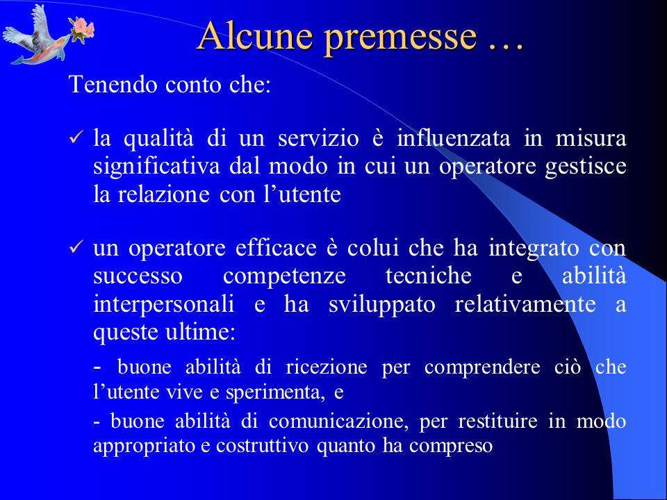 Forme di supporto verbale semi-direttive COME: linformazione dovrebbe essere discussa in modo tale da risultare utilizzabile per lutente.