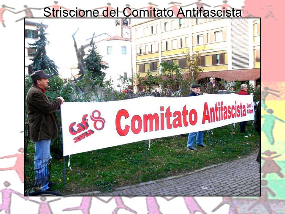 Striscione del Comitato Antifascista