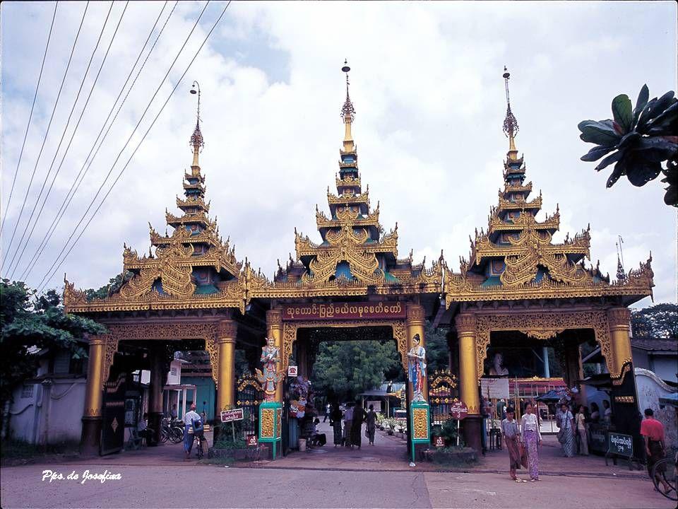 SHWEDAGON La Pagoda Shwedagon è uno stupa dorato alto 98 metri situato a Rangoon, Birmania. La pagoda si trova ad ovest del lago reale sulla collina d