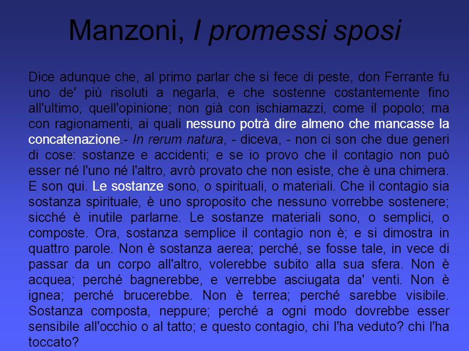 Manzoni, I promessi sposi Riman da vedere se possa essere accidente.