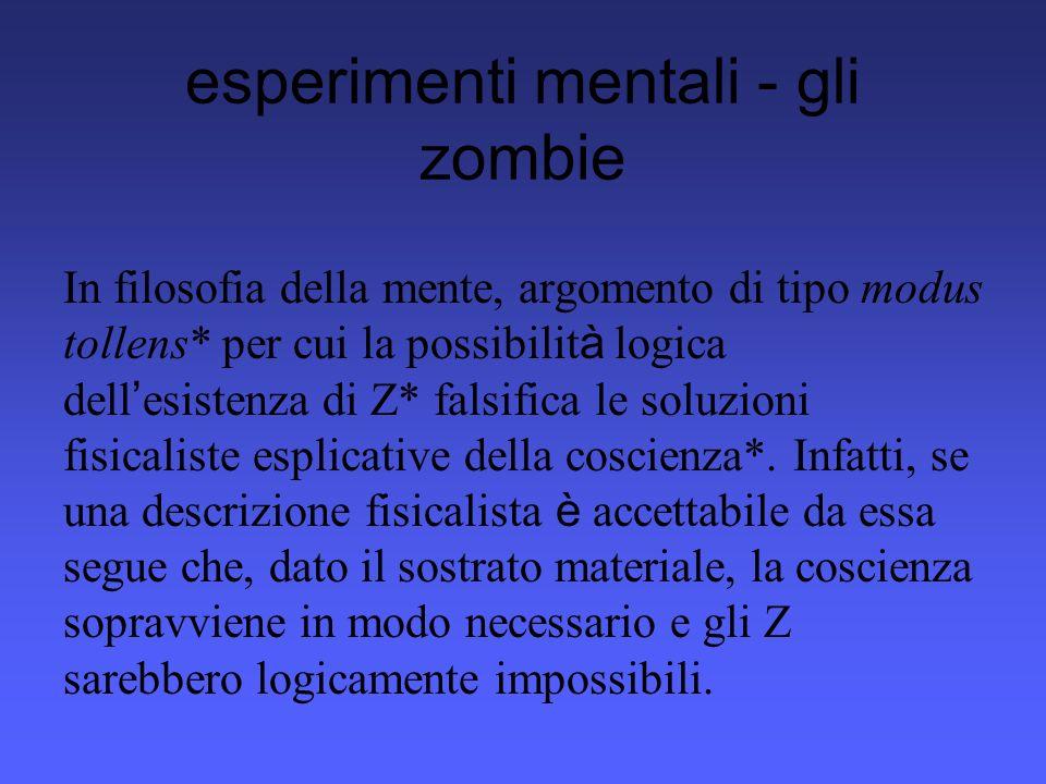 esperimenti mentali - terra gemella Esperimento mentale*, ideato da Putnam, per dimostrare che una differenza di estensione* è ipso facto una differenza di significato* e che, quindi, i significati non possono essere esclusivamente enti mentali.