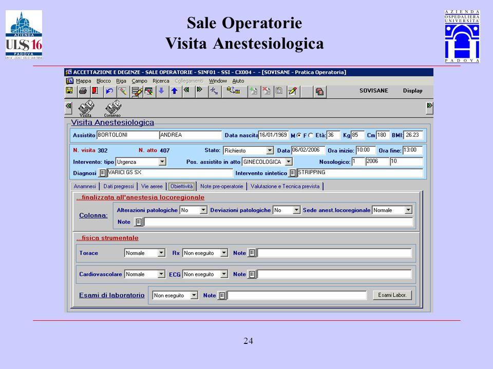 24 Sale Operatorie Visita Anestesiologica